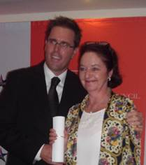 Caroline with Graham Wood, TGCSA Chair, at the Ceremony in Polokwane on 3 March 2014