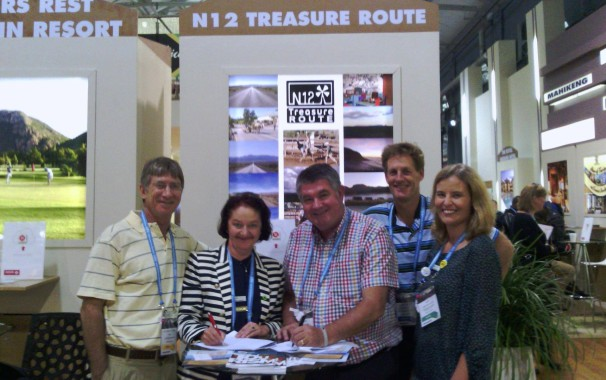 From left to right:  Adv Louis Nel, STPP Director/Founder, Caroline Ungersbock STPP Director/Founder, Rob Trautmann (NB12 TRA Chairperson), Alan Roxton Wiggill (N12 TRA CEO), Heidi van der Watt (STPP Director)